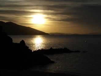 sunset at Lover's Cove on Daydream Island