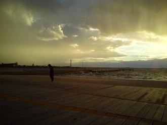 St Kilda beach sunset 1